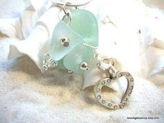 Sea Glass Beachglass  Embellished Lucky Stone by beachglassshop, $30.00