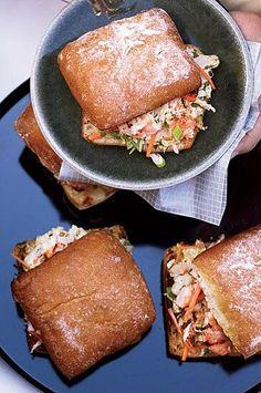 #shrimp #shrimprecipes #dinnerideas Easy Hors D'oeuvres, Ciabatta Roll, Shrimp Po Boy, Best Shrimp Recipes, Napa Cabbage, Chinese Cabbage, Party Dishes, Shrimp Dishes, Grilled Shrimp