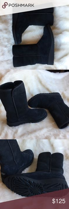 UGG Boots Soft, black UGG boots! In great condition, only worn once! UGG Shoes Ankle Boots & Booties