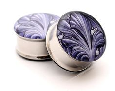 Filigree STYLE 4A Picture Plugs gauges - 8g, 6g, 4g, 2g, 0g, 00g, 7/16, 1/2, 9/16, 5/8, 3/4, 7/8, 1 inch