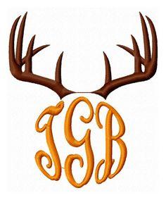 Deer Antler Monogram Frame