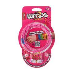 VIBE Pink Wristband Headphones