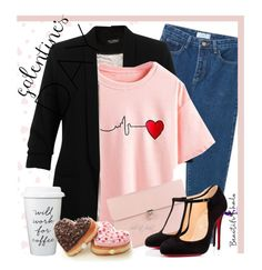 """""""Galentine's Day (BH 2-4)"""" by boho-at-heart ❤ liked on Polyvore featuring Miss Selfridge, Alexander McQueen, Christian Louboutin, women's clothing, women, female, woman, misses, juniors and beautifulhalo"""