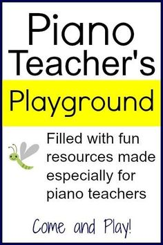 Super fun resources for teaching piano lessons. I could spend hours on here!