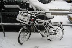 Even in winter we use our bike to get around
