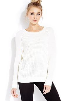 Favorite Waffle Knit Sweater   FOREVER21 - 2000127108