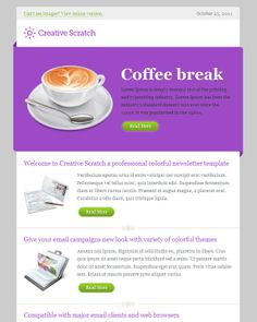 creative scratch email template email newsletter templatesnewsletter designemail
