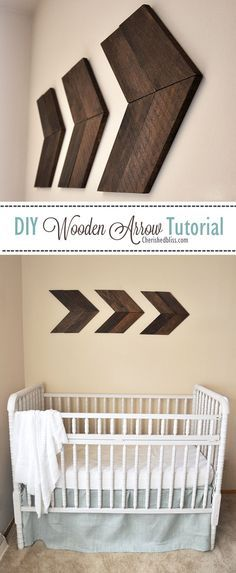 DIY Wooden Arrow Tutorial (for a living room or kitchen rather than nursery, maybe even a stairway)