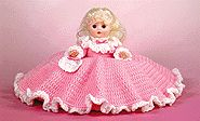 Crochet Tooth Fairy free crochet pattern for 8 inch pillow doll or 13 inch bed doll