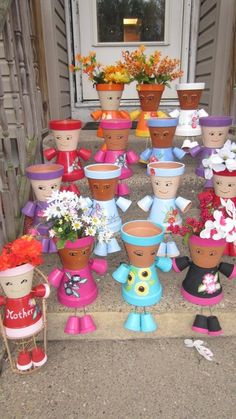 Pot People | DIY Mothers Day Crafts for Grandma