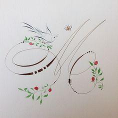Calligraphy Borders, Flourish Calligraphy, Calligraphy Drawing, Copperplate Calligraphy, Calligraphy Handwriting, Calligraphy Letters, Penmanship, Modern Calligraphy, Caligrafia Copperplate