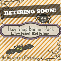 Etsy Shop Banner Pack Limited Edition by BusybeesCreation on Etsy, $5.95