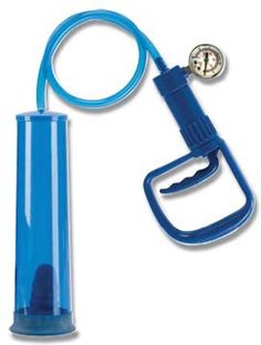 """10"""" Vacuum Tube with incremental pressure PSI gauge and man-size handle for easy-to-use control. Comfort latex sleeve included for a secure fit. http://www.forladiesonlyparty.com/?content=search&title=His+Toys&category=His+Toys"""