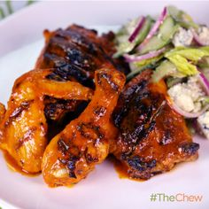 Grilled Buffalo Chicken with Crunchy Celery Salad by Clinton Kelly! #TheChew