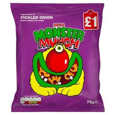 Mega Monster Munch Crisps Pickled Onion 76g (Case of 12) for £12.00.