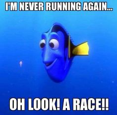 This is so me. Im such a masochist. I hate running, like really. But the races are fun at certain moments.