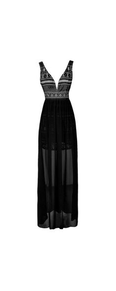 Delicate and Dramatic Lasercut Lace Maxi Dress  www.lilyboutique.com