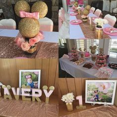 Minnie Mouse pink and gold party