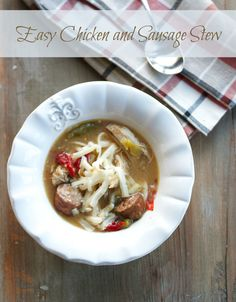 Easy Chicken and SausageStew