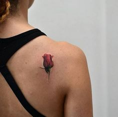 Red Tulip Tattoo Design 2018-2019 for Women