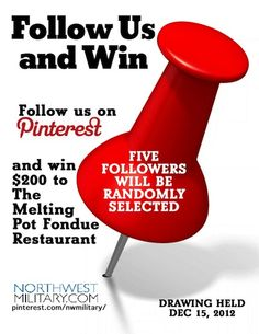 LOOK who won!!  Five lucky people who follow us won $200 EACH to The Melting Pot.