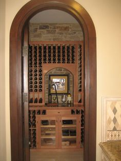 Contemporary Wine Cellar with High ceiling limestone floors Built-in bookshelf | Wine cellars | Pinterest | Wine cellars Wine and Ceilings & Contemporary Wine Cellar with High ceiling limestone floors Built ...