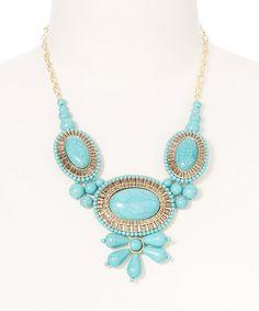 Love this Turquoise Magnesite Bib Necklace on #zulily! #zulilyfinds