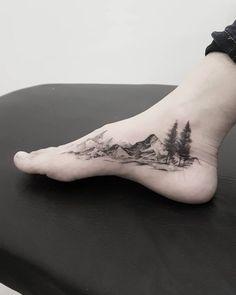 40 Fabulous Mountain Tattoo DesignsYou can find Mountain tattoos and more on our Fabulous Mountain Tattoo Designs Trendy Tattoos, New Tattoos, Body Art Tattoos, Small Tattoos, Tattoos For Guys, Tatoos, Female Wrist Tattoos, Rib Cage Tattoos, Foot Tattoos For Women