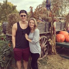 Chad and Fallon at a pumpkin patch :)