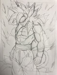 Goku Drawing, Ball Drawing, Dbz Drawings, Badass Drawings, Dragonball Art, Dragon Images, Pictures To Draw, Dragon Ball Z, Art Sketches