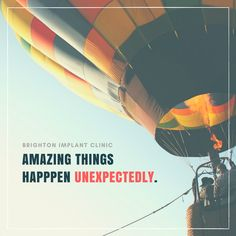 Amazing things happen unexpectedly. #lifequotes #upliftingquotes #goodvivesquote #gv