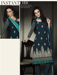 - Designer Embroidery Unstitched Suit with Hand work Punjabi Suits, Salwar Suits, Salwar Kameez, Indian Outfits, Indian Clothes, Party Wear, Shop Now, Elegant, Cloths