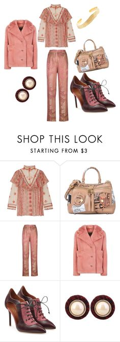 """Untitled #1224"" by martimarisa ❤ liked on Polyvore featuring Anna Sui, Moschino, Etro, Burberry, Malone Souliers and Cornelia Webb"