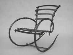 Andrew T Crawford Ironworks Rocking Chair, 2006, Forged Steel, Private Collection