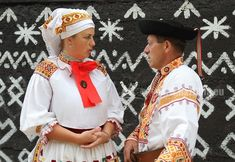 Hello all, Today I will talk about one of the most colorfully embroidered costumes of Slovakia, That of the village of Čičmany and v. Folk Costume, Costumes, Embroidery, Inspiration, European Countries, Czech Republic, Patches, Photos, Biblical Inspiration