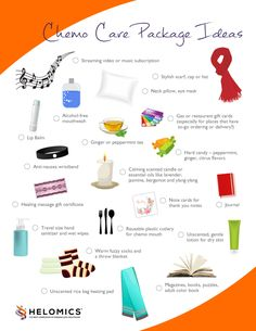 Chemo Care Package Ideas - make a care package for someone you love that is undergoing cancer treatment