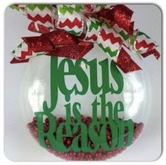 Jesus is the Reason Christmas Ornament by SparklesandSpice11 on Etsy
