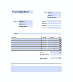 Freelance Photography Invoice Templates  Photography Invoice