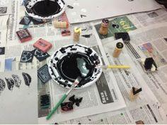 Any Espriu. Preparem l'exposició: Els segells tallats en gomes o de goma eva...