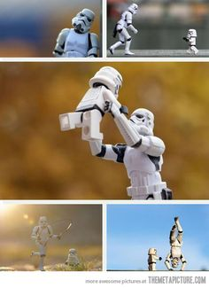 Stormtrooper and Son... Even  Stormtroopers have their human side
