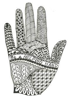 zentangle hand zentangles beginners patterns designs doodles doodle drawings hands altered zendoodle pattern mandala tangle objects ut vorlagen zen drawing