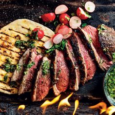 Beef picanha with flatbreads, chimichurri and fried chilli oil | Woolworths TASTE