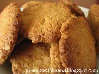 Kruche, pełnoziarniste ciasteczka z kokosem (dieta wegańska)