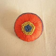 "broach""flower""|手刺繍ブローチ 『花』|siesta"
