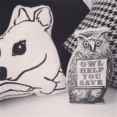 Helpful Owl Money box is great in a monochromatic colour scheme www.oinkypigmoneyboxes.com.au