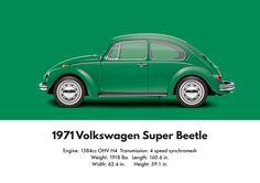 VW Beetle 1971 super Beetle sedan