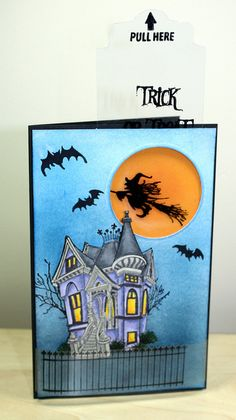 An awesome Halloween card created with Copic markers