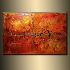 ORIGINAL Textured Abstract painting Contemporary Gold Orange metallic Fine Gallery Art by Henry Parsinia Large Free Canvas, Canvas Art, Canvas Ideas, Colorful Abstract Art, Wave Art, Contemporary Paintings, Abstract Paintings, Floral Wall Art, Large Painting