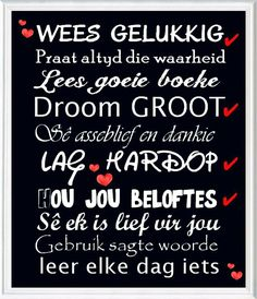 Silhouette Sign, Afrikaanse Quotes, Outdoor Birthday, Uplifting Words, Prayers, Inspirational Quotes, Wisdom, Sayings, School Ideas