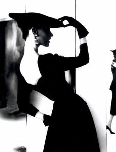 Lillian Bassman :: Barbara Mullen, [Flat Hat, Bare Back], ca. 1950